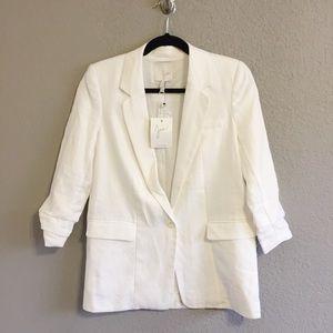 New Joie Kishina B Linen Blazer Jacket Size 0